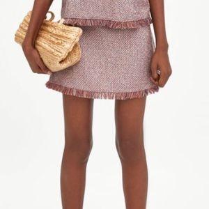 Zara tweed skirt